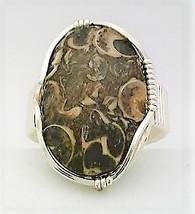 Turritella Silver Wire Wrap Gemstone Ring 7 - $10.31