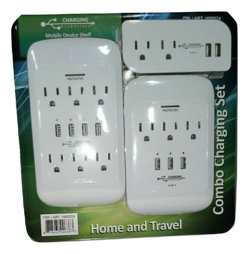 Primary image for Charging Essentials Home & Travel Combo Charging Set Surge Protected