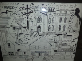 The Birds Bodega Bay Ink Drawing - $49.99