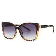 Orange Gray New Fashion Oversized Square Sunglasses Women Vintage Flat T... - $40.40