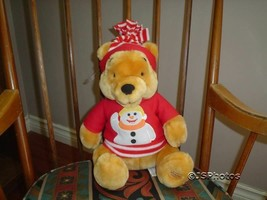 "Winnie The Pooh Bear Snowman Disney Store Exclusive 13"" - $67.50"