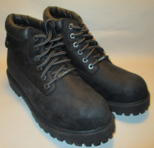 New Skechers Mens 9M Black Waterproof Leather Ankle High Work Boots,Arch... - £32.55 GBP
