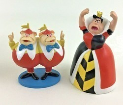 Disney Alice In Wonderland PVC Figures Toppers Queen of Hearts Tweedlede... - $22.23