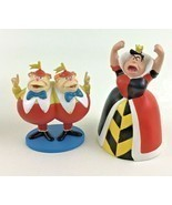 Disney Alice In Wonderland PVC Figures Toppers Queen of Hearts Tweedlede... - £16.30 GBP
