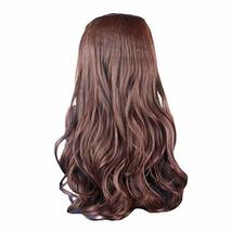 """One-piece Curly Wave Clip-on Hair Extensions Hairpieces 5 Clips 20"""" -Lig... - $17.74"""