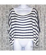 [lf] millau crop boxy s/s striped sweater - $30.00