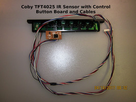 COBY TFT4025 IR Sensor with Control Button Board and Cables - $12.00