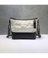 NEW AUTHENTIC CHANEL White Black Quilted Calfskin Medium Gabrielle Hobo ... - $3,999.99