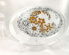 Pyrex Floral Bubbles 945C Lid 3D Effect Vintage 1970 Clear Glass ~ LID ONLY - $32.95