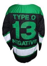 Any Name Number Type O Negative Hockey Jersey New Black Any Size image 2