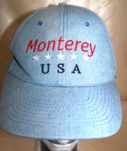 Denim Monterey USA red white & blue with stars Baseball cap - $9.99