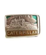 Vintage Silver Tone Enameled CATERPILLAR Belt Buckle 3217 - $22.76