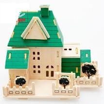 3D Construction Wooden Puzzles House Class 6 Logic Teaching Children's Toys - $14.01