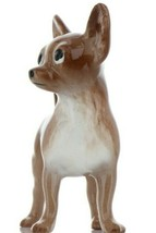 Hagen Renaker Pedigree Dog Chihuahua Large Brown and White Ceramic Figurine