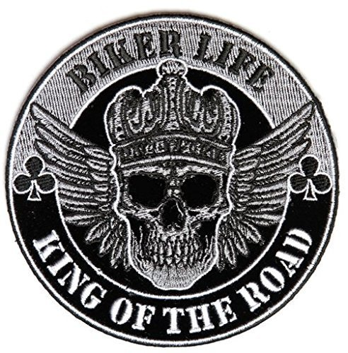 Biker Life King Of The Road Patch - 4x4 inch