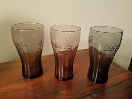 Set of Three Coke Drinking Glasses McDonald's Coca-Cola One Blue & Two P... - $14.80
