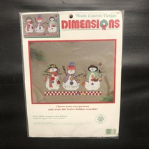 NIP Dimensions Let it Snow Snowman Waste Canvas Design Counted Cross Stitch Kit  - $9.89