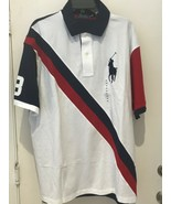 Polo Ralph Lauren Polo Shirt BIG PONY Red White Blue #3 2XB Big and Tal... - $65.09