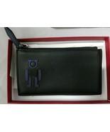 100% Authentic Salvatore Ferragamo Gancio Robot Zipper Cardholder Wallet... - $346.50