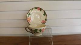 Franciscan Desert Rose Flat Cup & Saucer Set Vintage Earthenware Dishwar... - $8.49