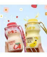 480ml Fruit Plastic Water Bottle BPA Free Portable Leak Proof Travel Dri... - $9.98+