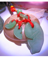 Haunted JADE CHARM 3x ASIAN LUCK PROSPERITY CARP TASSEL MAGICK WITCH Cas... - $56.77