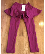 ALEX NOVA GIRLS PULL ON KNIT PANTS WINE WITH BUILT IN SKIRT SIZE 6 130 b... - $12.84