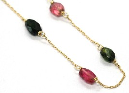 18K ROSE & YELLOW GOLD BRACELET, PURPLE & GREEN OVAL FACETED TOURMALINE image 2