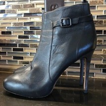 Ann Taylor fine leather brown heeled buckle boots - $53.46