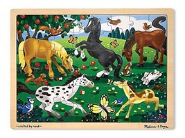Melissa & Doug 48pc Wooden Jigsaw Puzzle - Frolicking Horses - $9.99