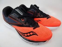 Saucony Kinvara 9 Size 9 M (D) EU 42.5 Men's Running Shoes Black / Red S20418-35