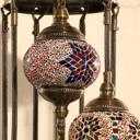 Floor Lamp Turkish Moroccan Style Mosaic Multicolored Light 9 Large Globe