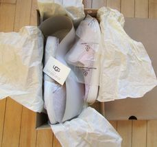 UGG Slippers Luci Slip On Sneakers Lavender fog Size 11 NEW image 7