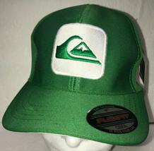Quiksilver Baseball Hat Cap Green Flexfit OSFA Brazil New NWT - $24.49