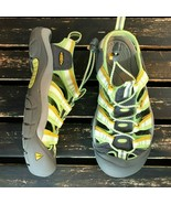 Keen Women Newport H2 Sandals Green Yellow Active Hiking Waterproof Size... - $39.59