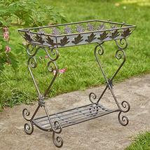 Two Tier Rectangular Plant Stand Tray Table (Aged Bronze) - $119.95
