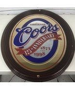 """Original Coors Beer 125th Anniversary Bar Mirror Sign Large Oval 29""""X23""""... - $166.66"""