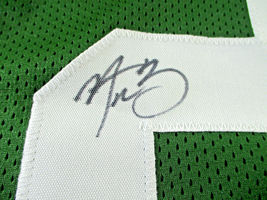 AARON RODGERS / AUTOGRAPHED GREEN BAY PACKERS GREEN CUSTOM FOOTBALL JERSEY / COA image 4