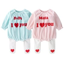 2019 new spring Fleece baby bodysuit + Pantyhose baby girls boys fathers... - $19.00
