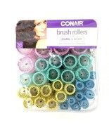 Conair Curl & Body 61146 Brush Rollers 36 Pieces Easy to Use Brand New - $11.29
