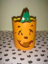 Hallmark Halloween Metal Jack-O-Lantern Candle Holder, Gently Used - $12.99