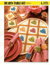 Plastic Canvas Pattern - Hearts Table Set - Annie's Home Decor - $2.47