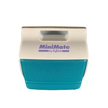 Mini Mate By Igloo Small Lunch Size Cooler Teal & Purple Side Button Open - $17.81