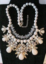 Bold Chunky Choker Statement Mauve Necklace Rhinestone Enamel Beads EX - $84.15