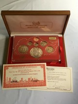 1980 Singapore 7 Coin 1 Cent-$10 Silver Proof Set Lot#B98 - $93.50