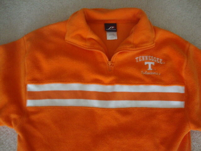 Primary image for NCAA Tennessee Volunteers Orange Football Basketball FLEECE Pullover Jacket M