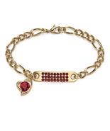 PalmBeach Jewelry Birthstone I.D. & Heart Charm Bracelet in Yellow Gold ... - $25.94