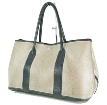 Auth Vintage HERMES Toile H Gray and Black Garden Party Tote Bag Purse #22891 - $335.00