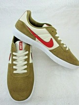 Nike Mens SB Team Classic Golden Beige Red Suede nylon Skate Shoes Size ... - $54.44