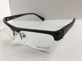 New ALAIN MIKLI AL 0737 AL0737 0015 56mm Gray Semi-Rimless Eyeglasses Frame - $319.99